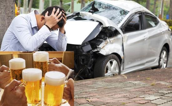 40% số vụ tai nạn giao thông liên quan đến việc sử dụng rượu bia