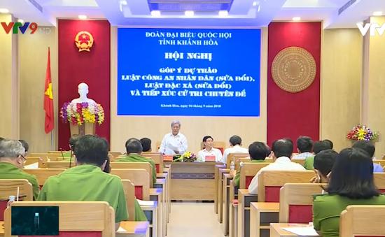 Khánh Hòa: Cử tri đóng góp ý kiến 2 dự án luật sửa đổi