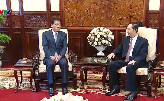 Chủ tịch nước tiếp Đại sứ đặc biệt Việt - Nhật