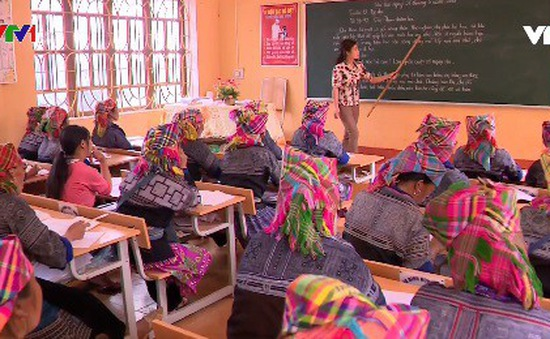 Lớp học xóa mù chữ tại Mù Cang Chải, Yên Bái