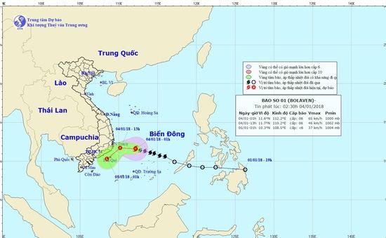 Cơn bão số 1 suy yếu thành một vùng áp thấp