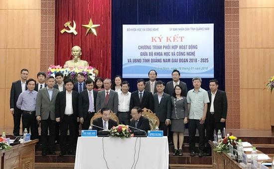 Bộ trưởng Bộ Khoa học Công nghệ làm việc tại Đà Nẵng và Quảng Nam