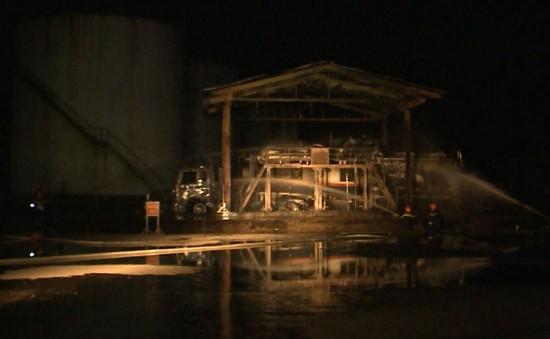 Cháy hai xe bồn ở nhà máy cồn Đại Tân, Quảng Nam