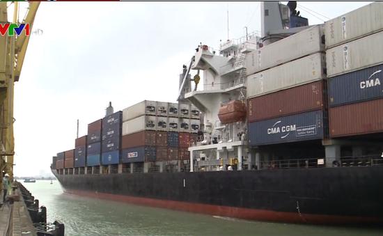 Đà Nẵng đón tấn hàng đầu tiên qua cảng trong năm mới