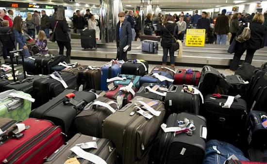 Lượng hành lý ký gửi tại sân bay John F. Kennedy, Mỹ tăng gấp đôi sau bão tuyết