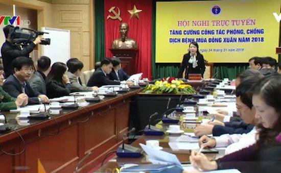 Hội nghị trực tuyến phòng chống dịch bệnh mùa Đông Xuân