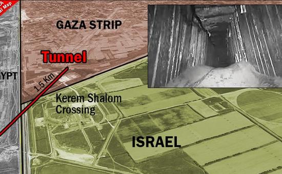 Israel phá hủy một đường hầm qua biên giới của Hamas
