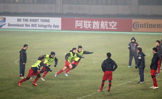 U23 Việt Nam làm quen sân Changshu Sports, lạc quan hướng tới trận đấu với U23 Syria