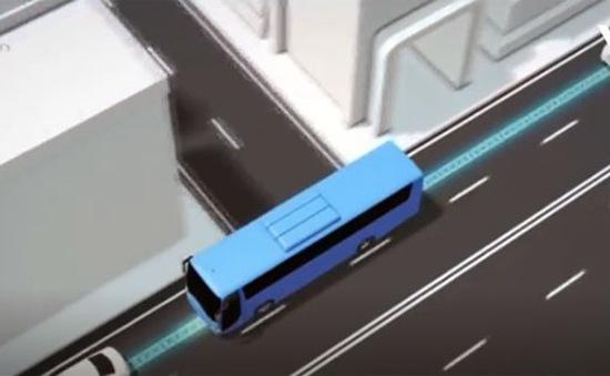 Tuyến xe bus sạc điện trực tiếp từ mặt đường