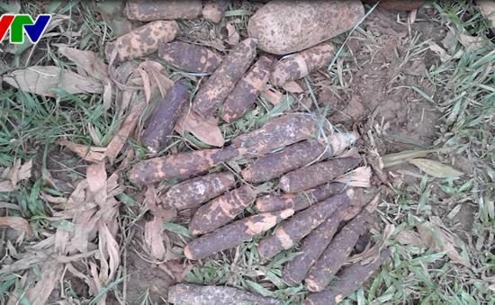 Quảng Trị: Phát hiện và xử lý hơn 260 đầu đạn pháo các loại