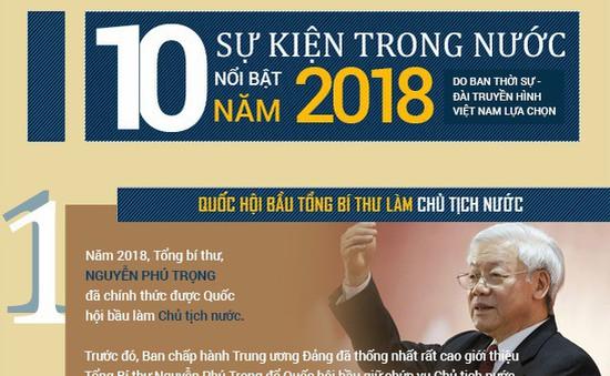 [INFOGRAPHIC] 10 sự kiện trong nước nổi bật năm 2018