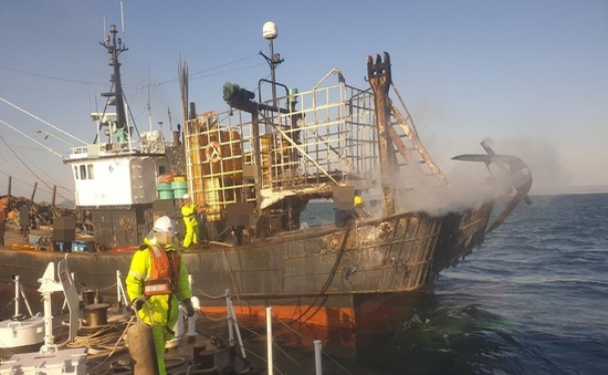 Cháy tàu cá ở Hàn Quốc: Thông tin mới nhất về 2 nạn nhân người Việt