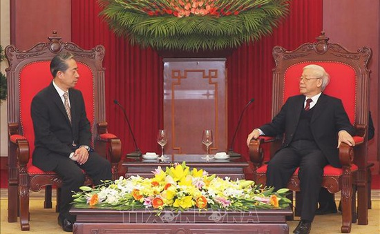 Tổng Bí thư, Chủ tịch nước tiếp xã giao Đại sứ Trung Quốc