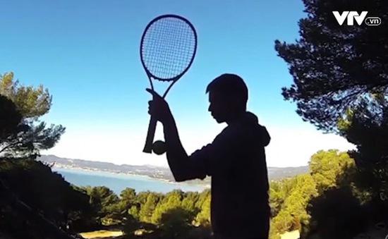 Chiêm ngưỡng động tác tennis nghệ thuật