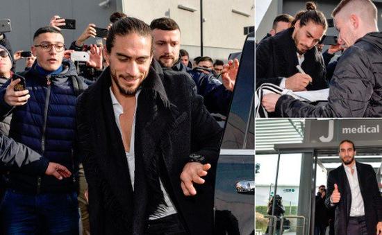 Juventus triệu hồi Caceres lần thứ 2 để thay Benatia