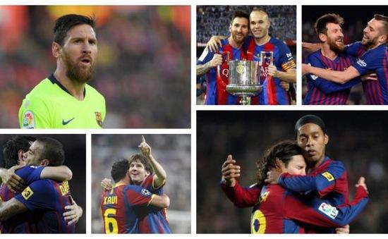 """6 """"cạ cứng"""" ăn ý nhất của Lionel Messi tại Barcelona"""