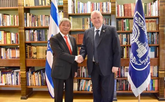 Đại sứ Việt Nam tại Israel Cao Trần Quốc Hải chào từ biệt Tổng thống Reuven Rivlin