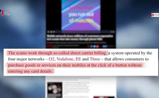 Lỗ hổng dẫn đến lừa đảo qua tin nhắn điện thoại tại Anh
