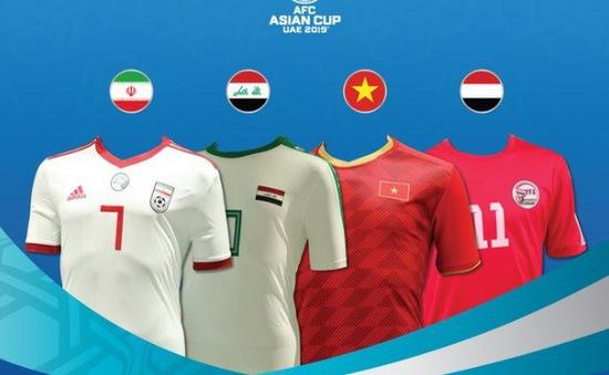 Chiêm ngưỡng áo đấu của 24 đội dự Asian Cup 2019