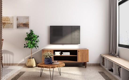 Căn hộ có nội thất làm bằng gỗ tự nhiên