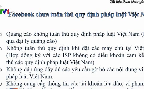 Một số hành vi vi phạm pháp luật Việt Nam của Facebook