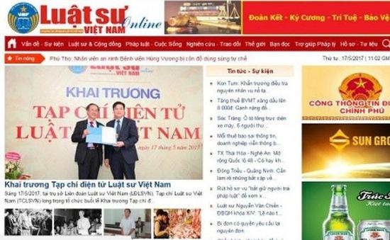 Tước giấy phép hoạt động của tạp chí điện tử Luật sư Việt Nam