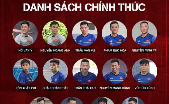 ĐT futsal Việt Nam chốt danh sách tham dự giải Futsal Đông Nam Á 2019