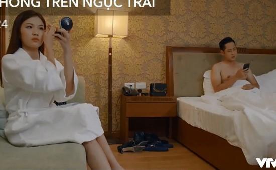 """Hoa hồng trên ngực trái - Tập 24: Ngủ với cấp dưới của Thái, Trà phải chịu cảnh """"không công"""""""