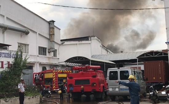 Cháy lớn trong khu chế xuất Linh Trung 1, TP.HCM