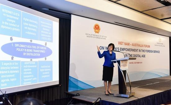 Hợp tác nâng cao vai trò và đóng góp của phụ nữ trong lĩnh vực đối ngoại trong kỷ nguyên số
