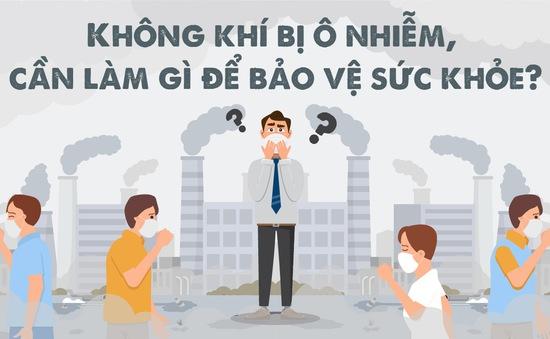 [INFOGRAPHIC]  Cách bảo vệ sức khỏe trước ô nhiễm không khí tại Hà Nội