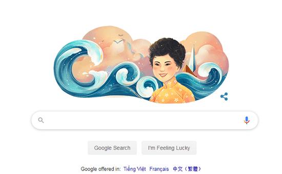 """""""Thuyền và Biển"""" cùng thi sĩ Xuân Quỳnh lên trang chủ Google tiếng Việt"""