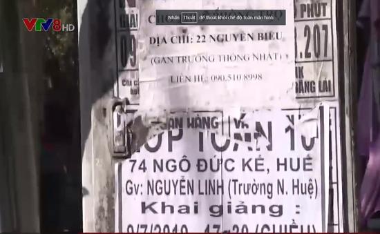 Thừa Thiên - Huế xử lý nghiêm hành vi dán tờ rơi quảng cáo