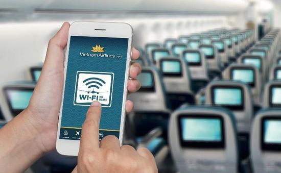 Vietnam Airlines cung cấp Wifi trên một số chuyến bay
