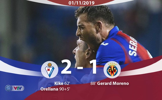 Eibar 2-1 Villarreal: 3 điểm thuyết phục cho Eibar