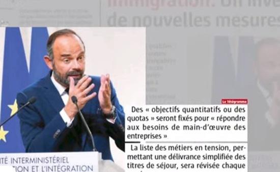 Pháp sẽ áp dụng cơ chế hạn ngạch hàng năm đối với lao động nhập cư