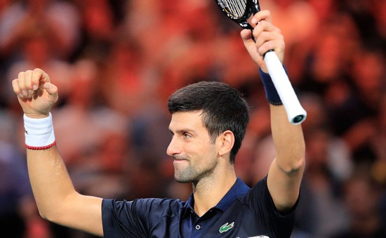 Vượt qua Dimitrov, Djokovic tiến vào chung kết Paris Masters 2019