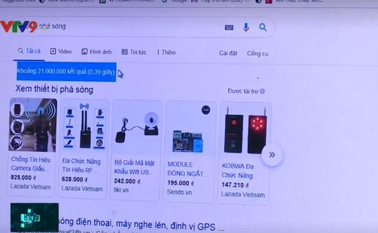 Tràn lan mua bán thiết bị phá sóng trực tuyến