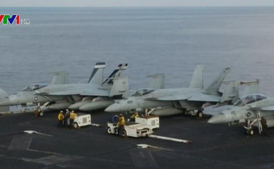 Tàu sân bay Mỹ hoạt động huấn luyện trên biển Arab