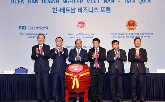 Thủ tướng Nguyễn Xuân Phúc dự Diễn đàn DN Việt Nam - Hàn Quốc