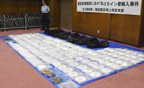 Nhật Bản thu giữ lượng ma túy kỷ lục tại cảng Kobe