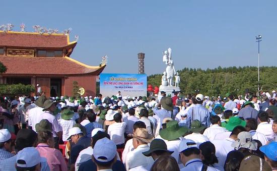 Cà Mau khánh thành đền thờ Lạc Long Quân và tượng Mẹ