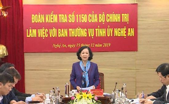 Kiểm tra đổi mới công tác cán bộ ở Nghệ An