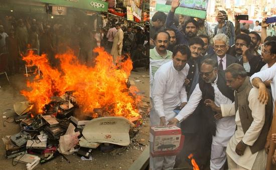 Pakistan tiêu hủy lượng lớn hàng lậu trị giá 250 triệu USD