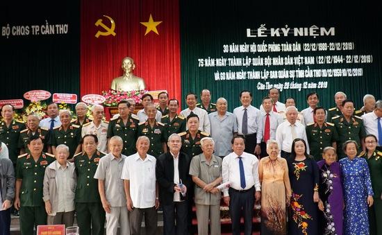 Kỷ niệm 75 năm ngày thành lập Quân đội nhân dân Việt Nam tại Cần Thơ