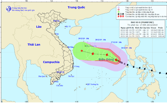Các tỉnh, thành phố ven biển từ Thanh Hóa đến Bình Thuận chủ động với diễn biến của bão