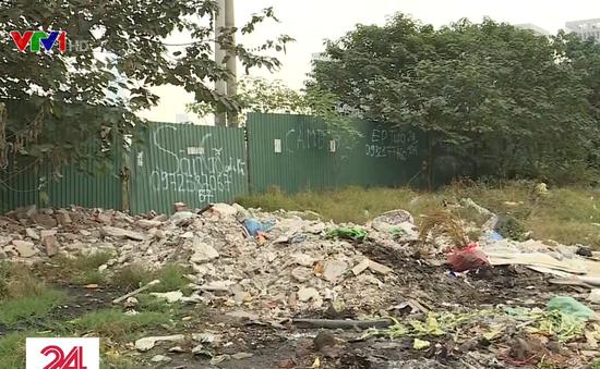 Cuối năm, rác thải lại tràn ngập trên Đại lộ Thăng Long