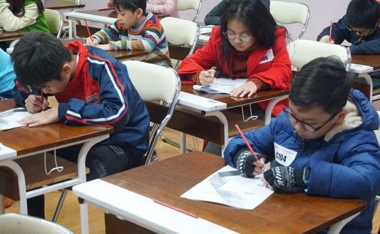 Học sinh 16 trường tiểu học Hà Nội tham gia cuộc thi đánh giá năng lực tư duy chuẩn quốc tế