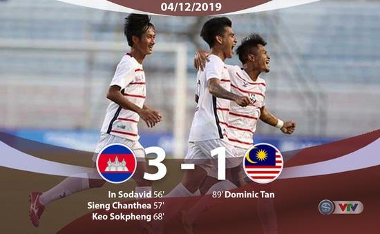 VIDEO Highlights: U22 Campuchia 3-1 U22 Malaysia (Bảng A môn bóng đá nam SEA Games 30)