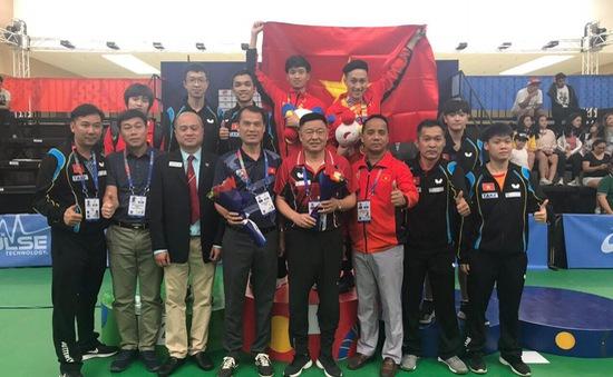 SEA Games 30: Bóng bàn Việt Nam giành HCV đôi nam sau chiến thắng trước Singapore